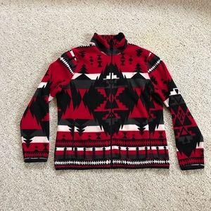 Ralph Lauren, Southwestern Fleece Zip-up Jacket!